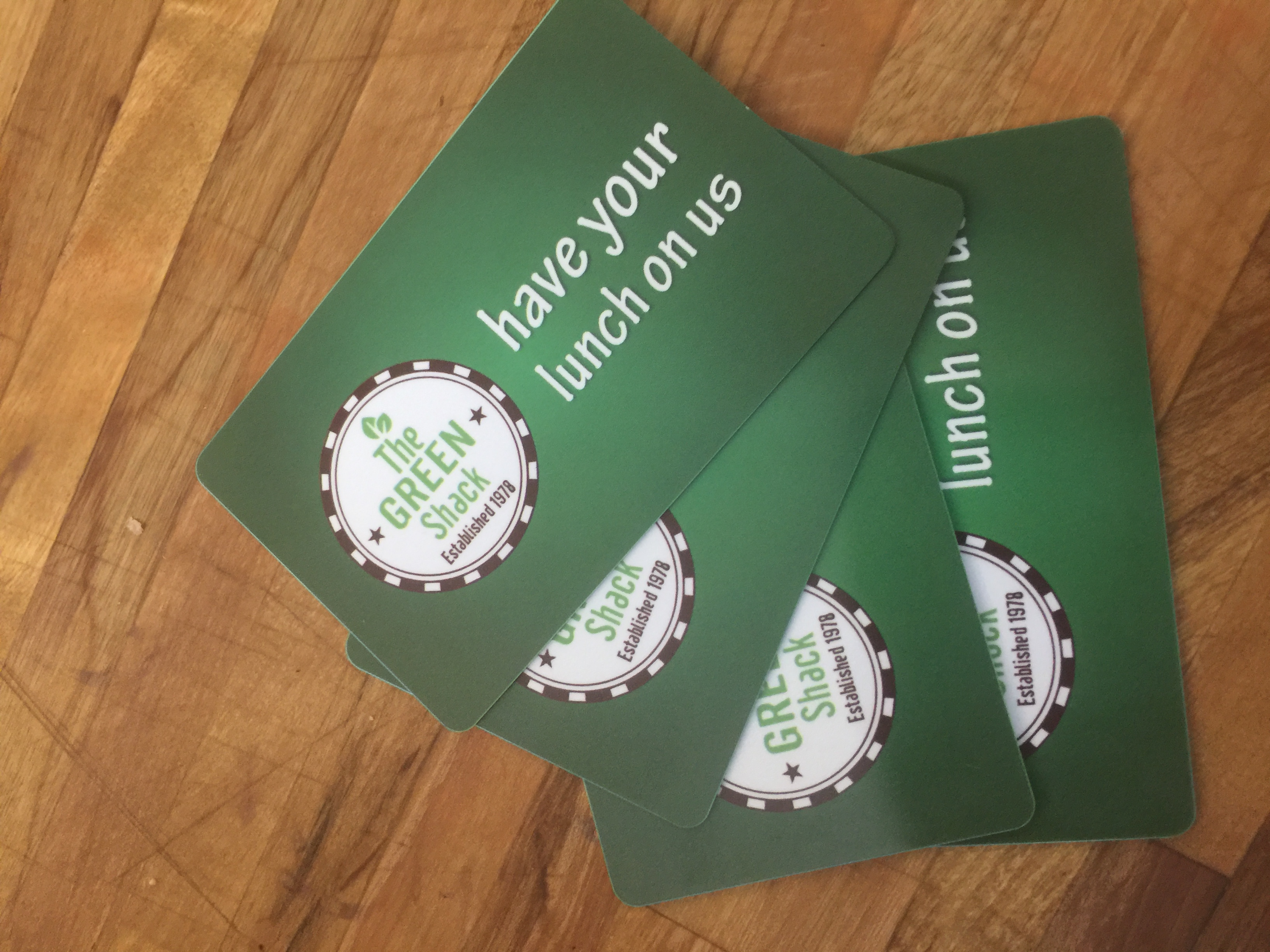 Green shack gift cards now available green shack you can now get yourself or someone else a green shack gift card simply ask for a gift card at the register load it up with as much money as solutioingenieria